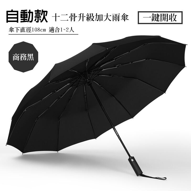 加大傘面全自動晴雨兩用折疊傘