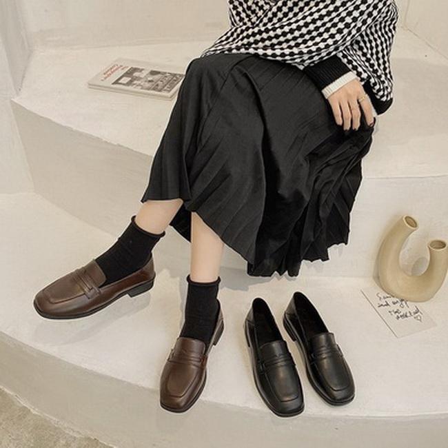FOFU-學院風牛津鞋方跟低跟皮鞋【02S13625】