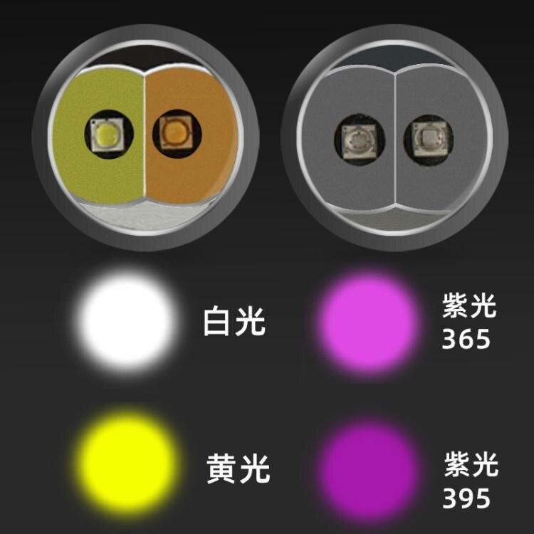 現貨-usb充電照玉石手電筒新款鋁合金玉器鑒定手電珠寶玉石鑒定手電筒 城市玩家
