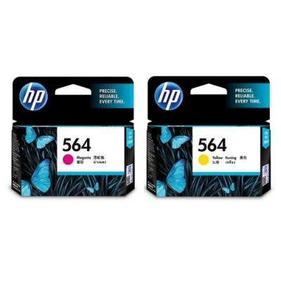 HP 564 CB319WA 紅+CB320WA 黃   原廠墨水匣