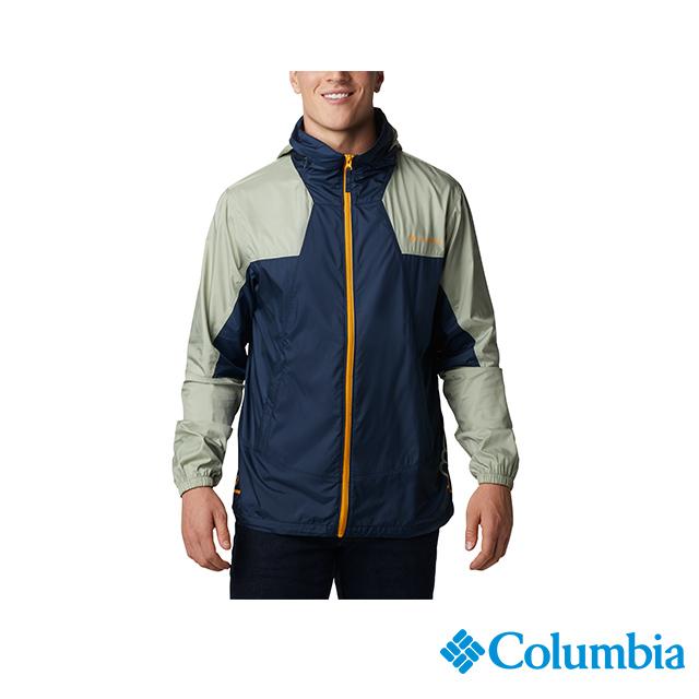 Columbia 哥倫比亞 男款-UPF40防潑水風衣-深藍 UKE00850NY
