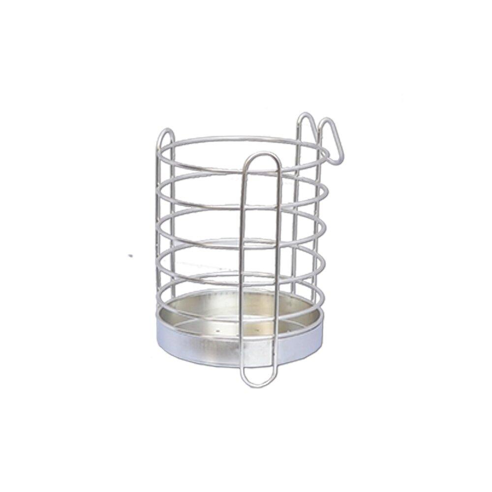 《真心良品》皇家拿鐵圓形不鏽鋼筷籃-1入組