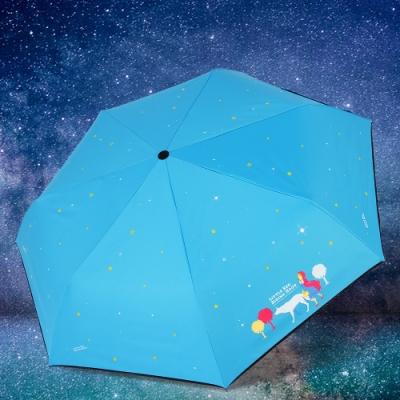 【雙龍牌】小紅帽降溫13度黑膠自動傘自動開收傘晴雨傘B6290NH-湖水藍
