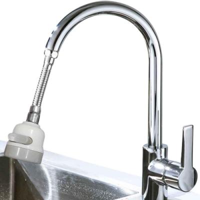 (2入)(升級中型硬管)一鍵三段可固定可彎曲省水增壓水龍頭 花灑頭