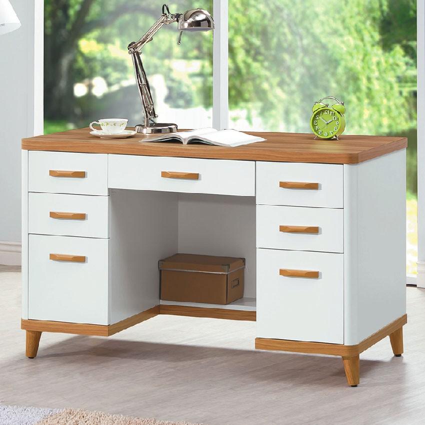 【121cm書桌-E622-1】工作桌 辦公桌 學生書桌 主管桌 書櫃型書桌【金滿屋】