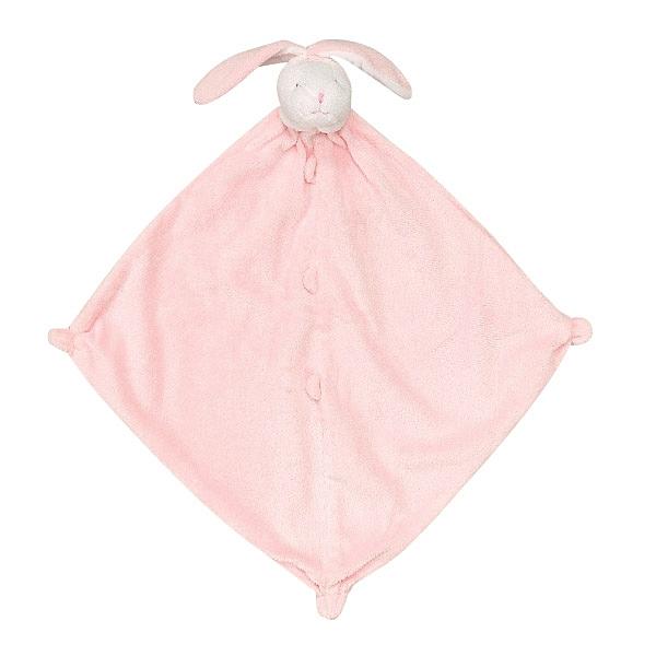 美國Angel Dear 動物嬰兒安撫巾 粉色小兔(白臉)