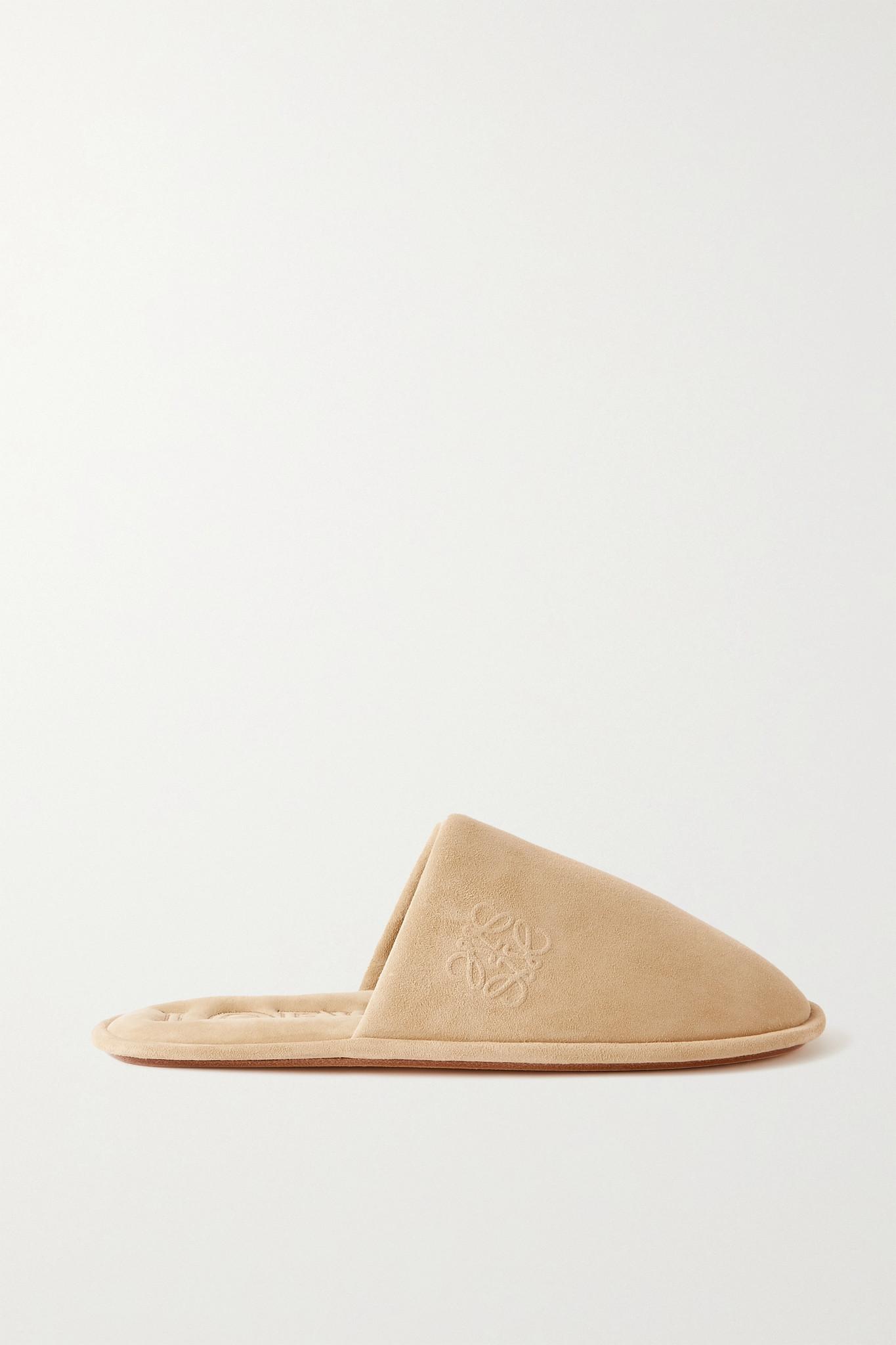 LOEWE - 绒面革拖鞋 - 中性色 - IT38