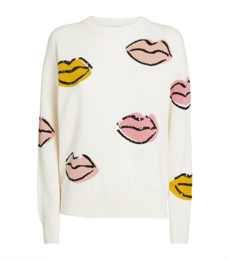 Markus Lupfer Merino Wool-Cotton Ellie Lips Sweater