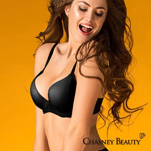 Chasney Beauty緹花無痕蕾絲內衣B-D(黑)