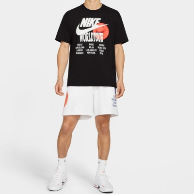 Nike M NSW TEE WORLD TOUR 男 短袖上衣 黑-DA0938010