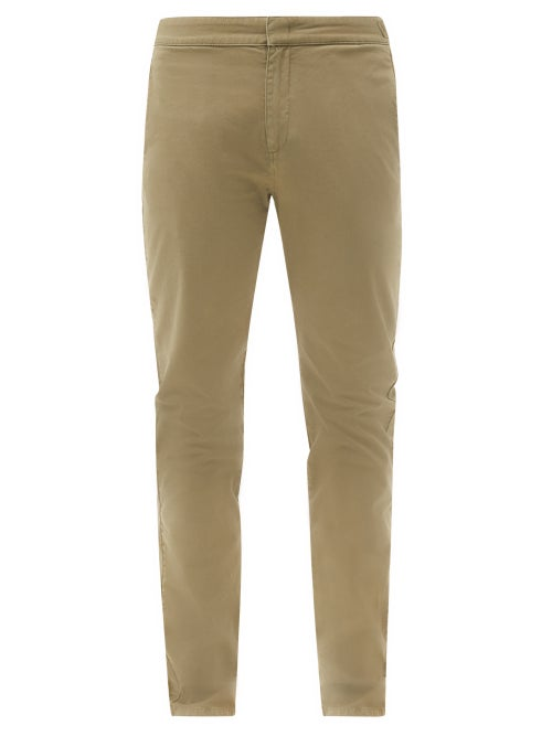 Orlebar Brown - Campbell Slim-leg Cotton-blend Chino Trousers - Mens - Brown