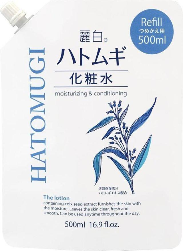 日本【 熊野油脂】 麗白 薏仁化妝水500ml 補充包