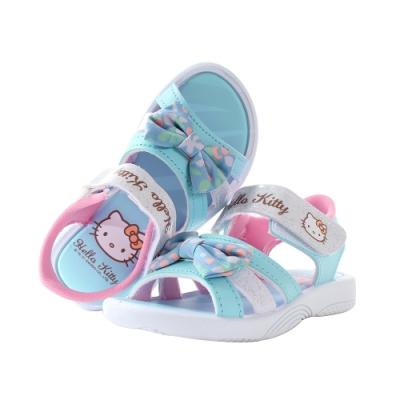 魔法Baby 中大女童鞋 台灣製Hello kitty正版大女孩涼鞋 sk1148