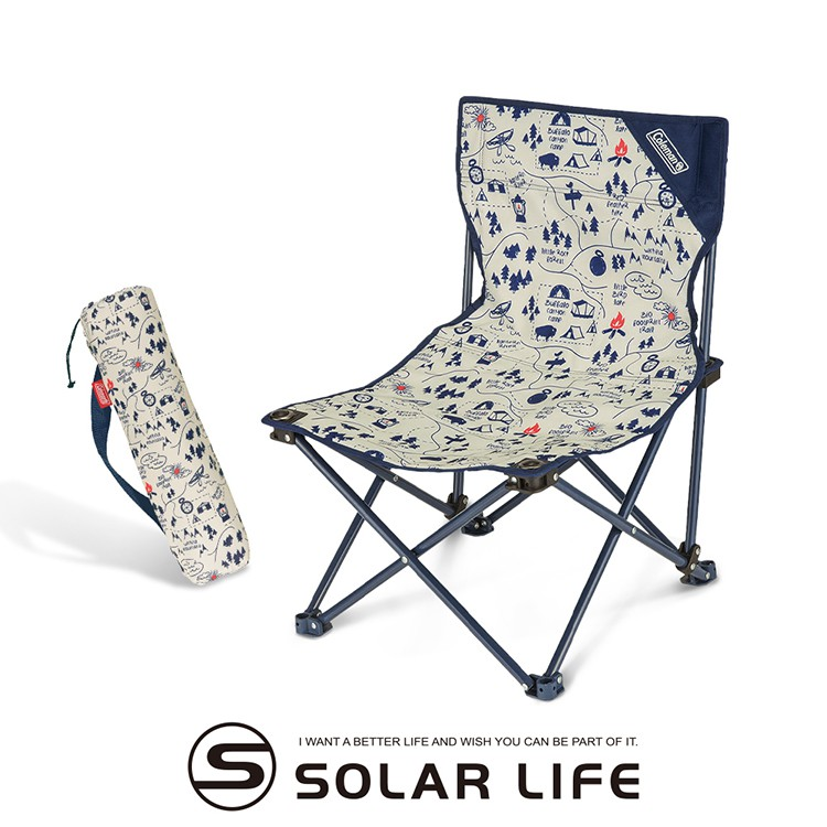 Coleman CAMPMAP露營地圖樂趣椅/CM-33437 釣魚椅 靠背露營椅 折疊沙灘椅 童軍椅 戶外便攜椅