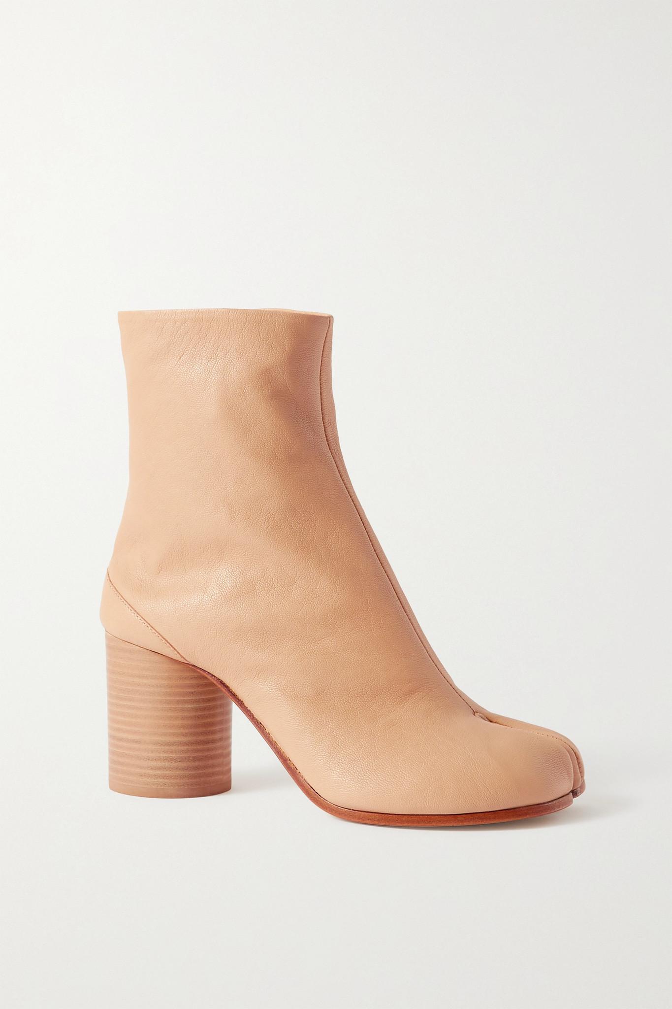 MAISON MARGIELA - Tabi 分趾皮革踝靴 - 中性色 - IT36.5
