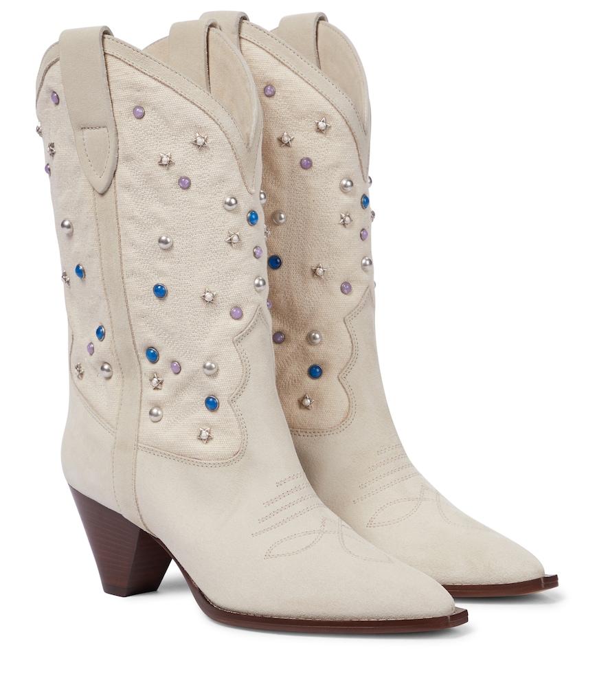 Luliette suede cowboy boots