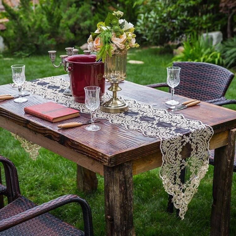 簡約桌旗茶幾旗桌巾北歐電視櫃桌布蕾絲餐裝飾巾 城市玩家