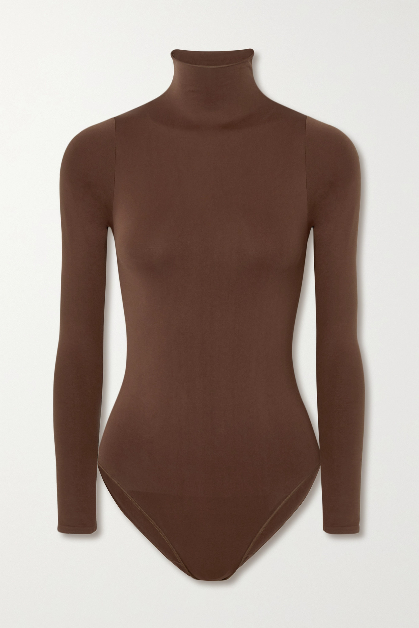 SKIMS - Essential Mock Neck Bodysuit - Onyx - Neutrals - L/XL