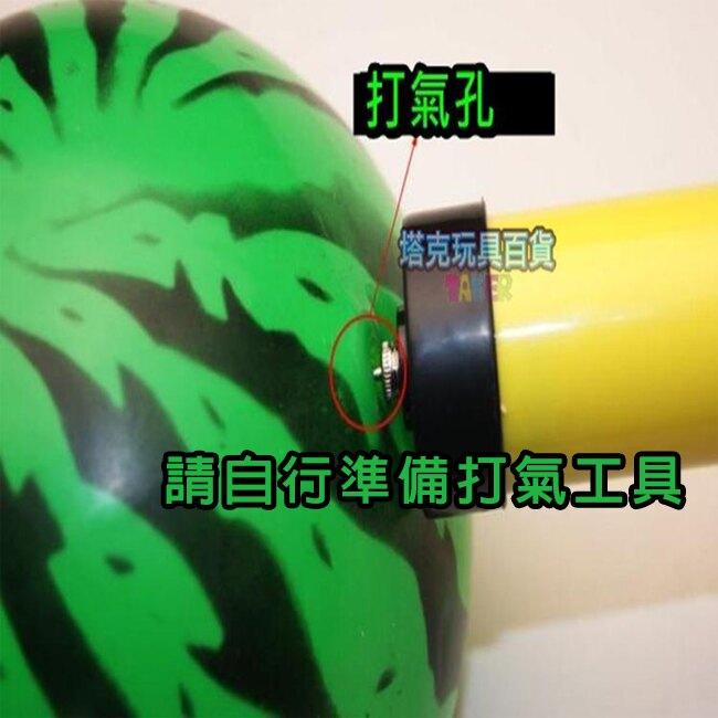仿西瓜沙灘球 充氣式 西瓜球 (6吋) 海灘球 充氣球 橡膠球 夏日沙灘遊玩必備品【塔克】