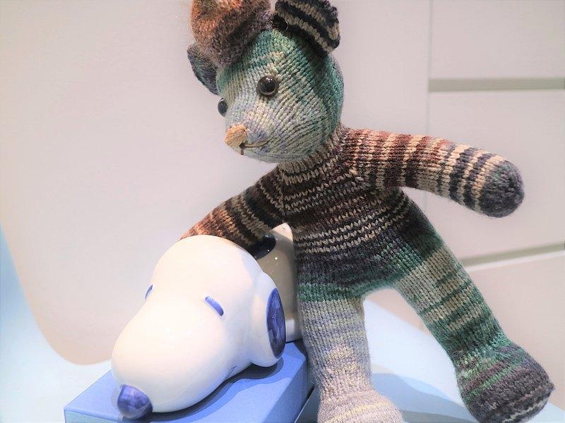 熊愛家族Sean熊阿宅手工編織泰迪熊knitted teddy bearテディベア