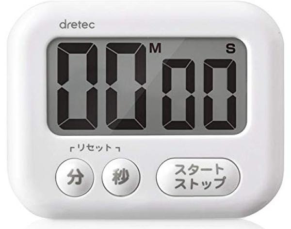 【沐湛咖啡】日本DRETEC 大螢幕計時器 T-541WT(白) 公司貨保固 顯示清晰 虹吸必備