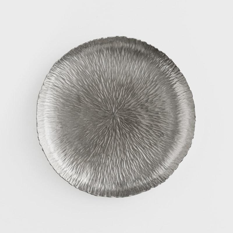 職人 錘目工藝18cm 錫器淺盤|絲線|單品