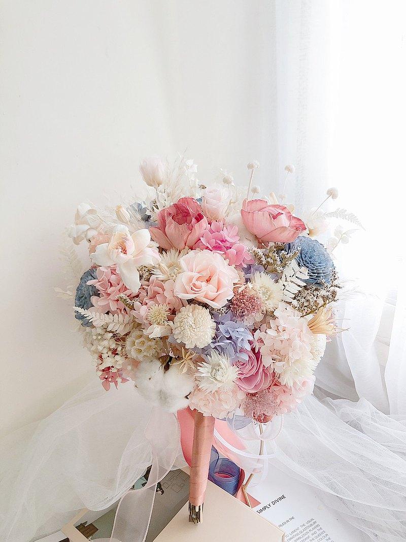 永生花 永生玫瑰花 乾燥花 新娘捧花 拍照花束 求婚花束 婚禮婚紗