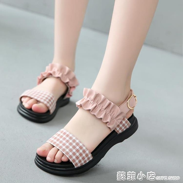 女童網紅涼鞋2021新款時尚韓版公主涼鞋女中大童可愛休閒兒童涼鞋 蘇菲小店