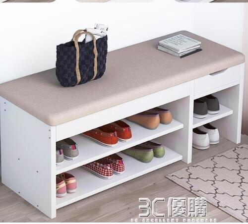 快速出貨 換鞋凳鞋柜家用簡約現代門口可坐式鞋架長條凳穿鞋凳進門儲物凳子