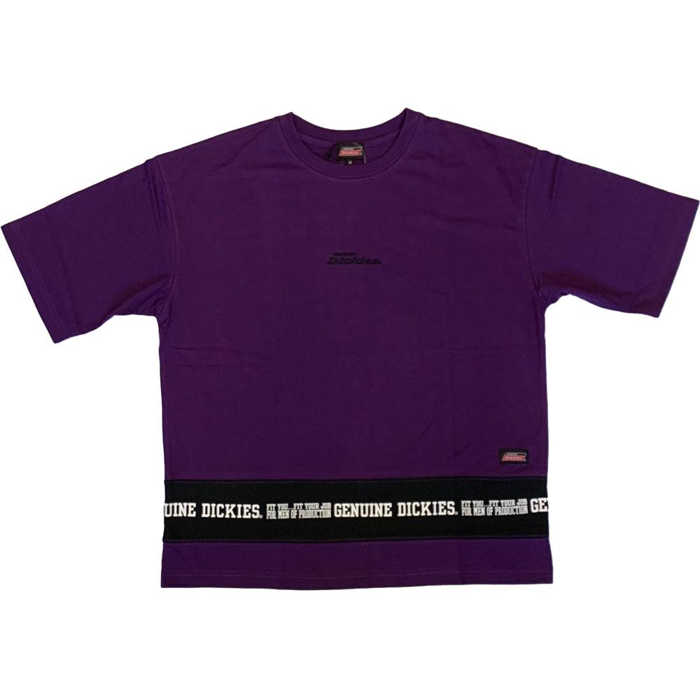 【DICKIES】日本限定 1274-8633 下擺色塊 短T (紫色)