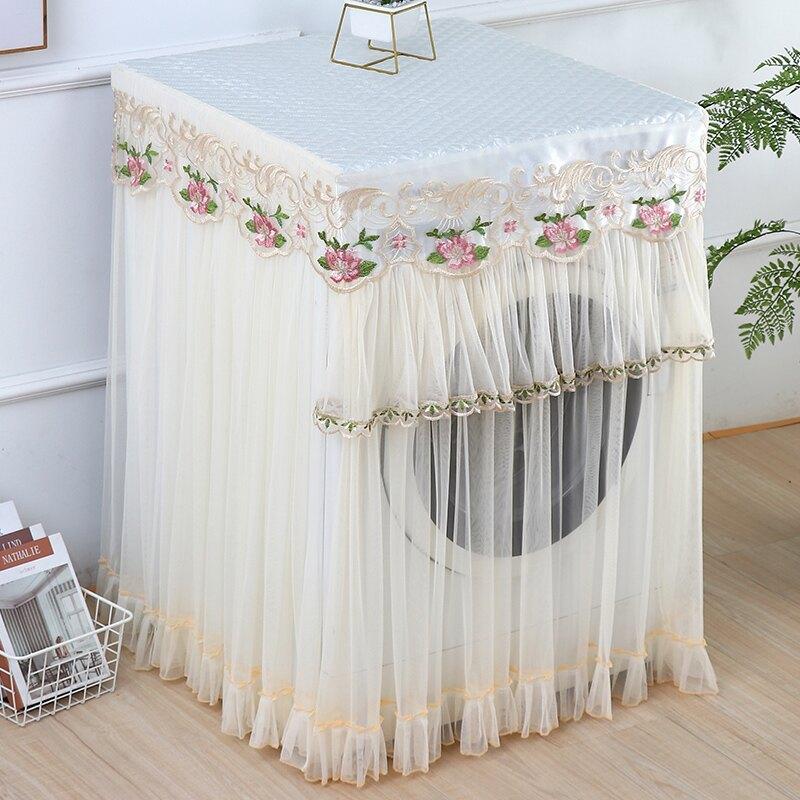 洗衣機防塵罩滾筒布藝洗衣機防塵罩防水防曬全自動小天鵝海爾蕾絲洗衣機套蓋布
