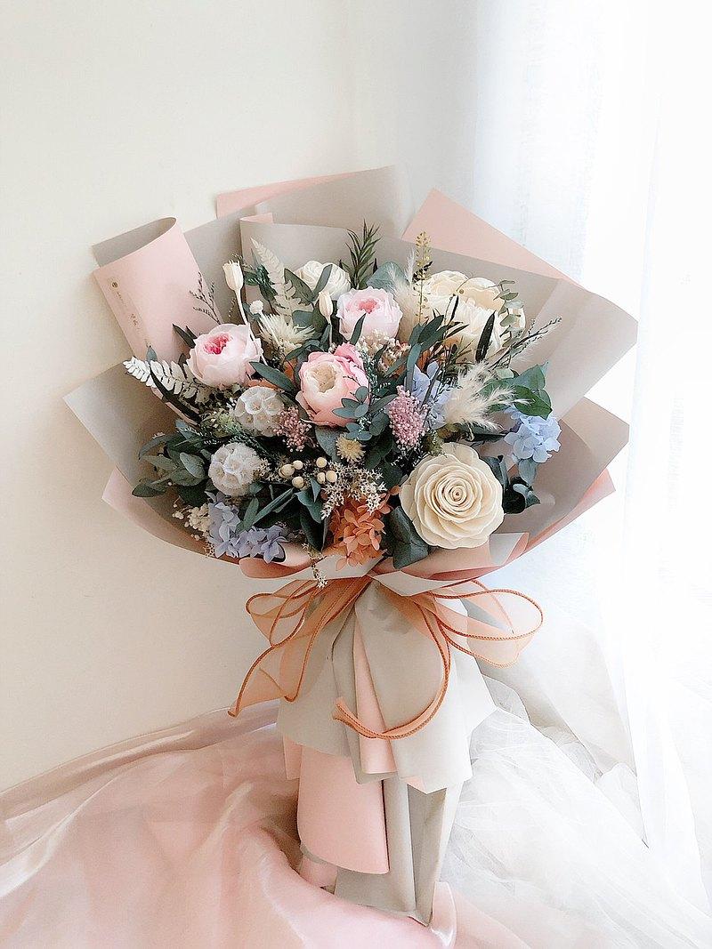 永生花 永生玫瑰花 乾燥花 紀念日禮物 求婚花束 告白 祝賀禮物