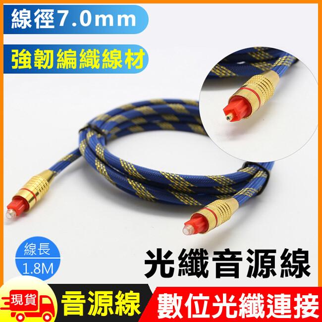 編織7.0光纖音源連接線-1.8m