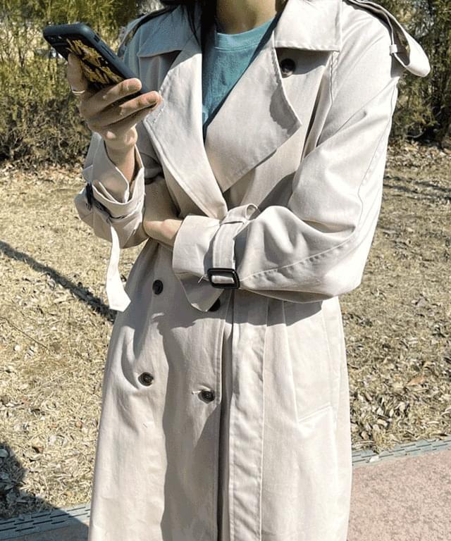 韓國空運 - Brenda trench long coat 大衣外套