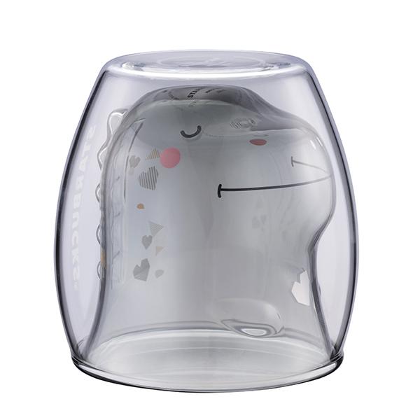 ★滿額加贈100點★星巴克Dinosaur雙層玻璃杯 【康是美】