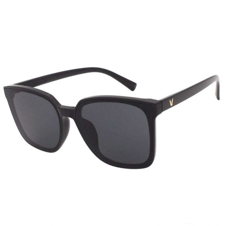 韓版方形小框男士開車墨鏡潮流時尚復古街拍風防紫外線太陽眼鏡女