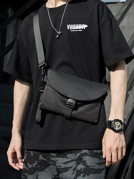 新款斜背包男潮牌側背包胸包郵差包簡約百搭機能小掛包斜背包ins 韓國時尚週