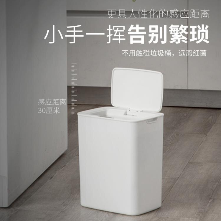 力好佳垃圾桶室內智慧感應式廚房臥室衛生間自動帶蓋低噪音衛生桶