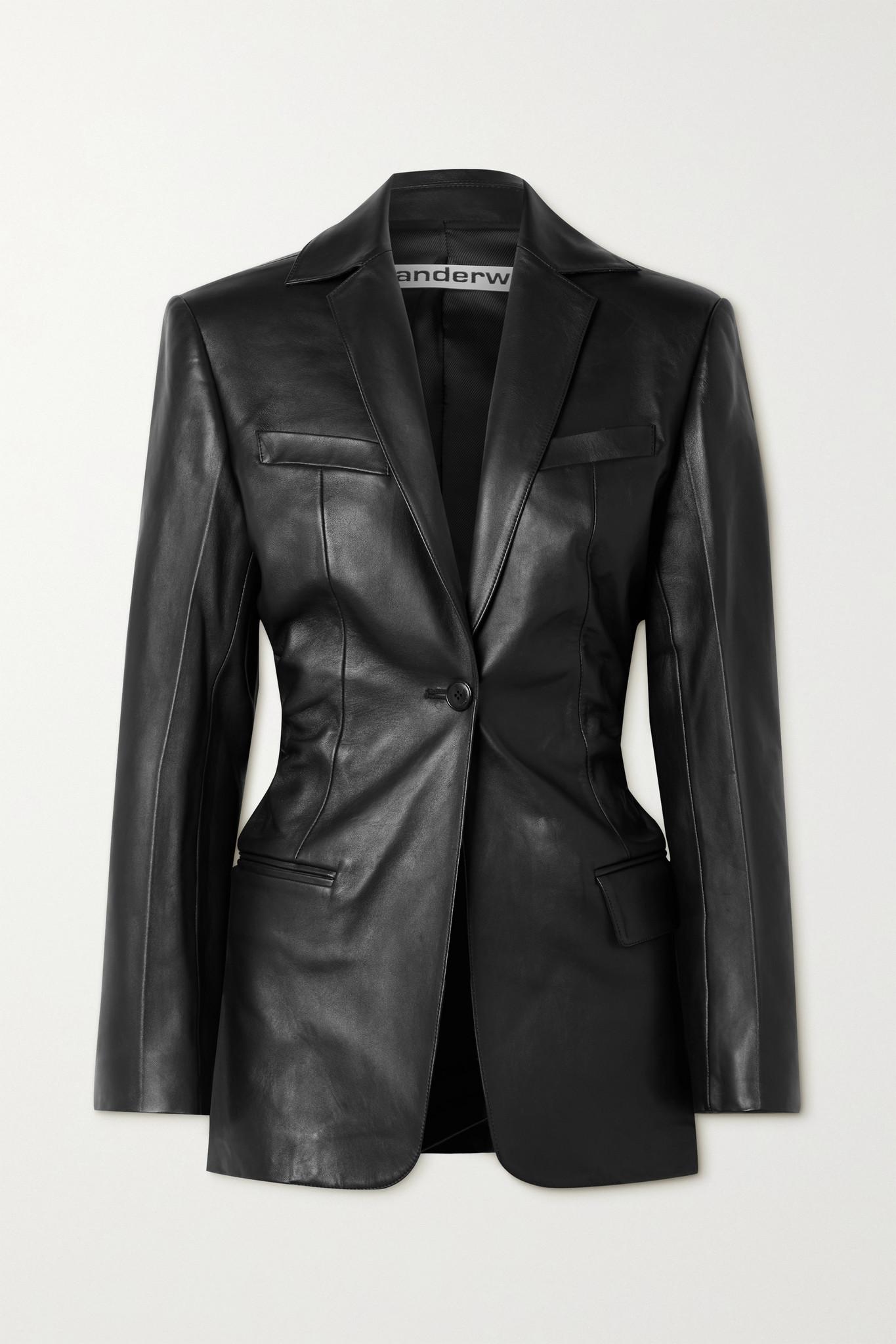 ALEXANDER WANG - Leather Blazer - Black - US2