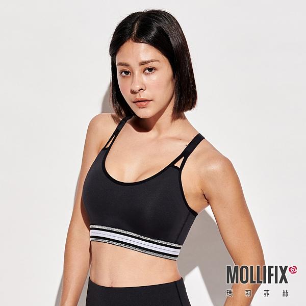Mollifix瑪莉菲絲 3D防震高強度運動內衣 (高調銀)