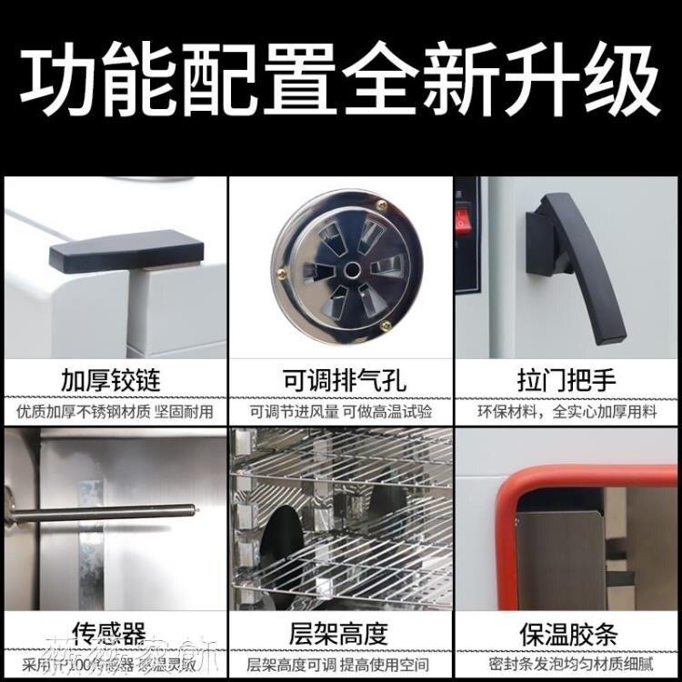 快速出貨 恆溫箱 鼓風干燥箱電熱恒溫實驗室商用工業烘干箱家用大小型真空高溫烘箱