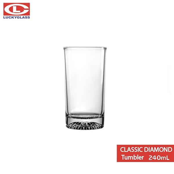 泰國LUCKY Classic Diamond Tumbler 240mL 經典鑽底直杯 果汁杯 酒杯 水杯 飲料杯