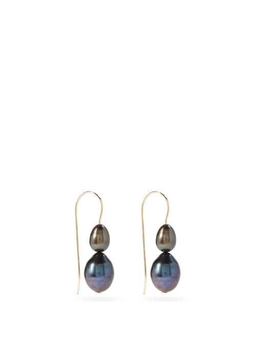 Sophie Buhai - Freshwater Pearl & 14kt Gold-filled Earrings - Womens - Black Multi