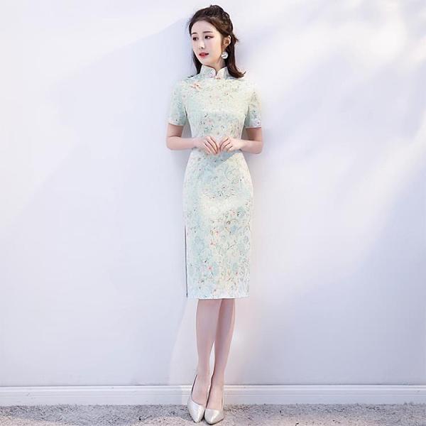 少女旗袍2021年新款改良年輕款日常可穿中國風洋裝氣質優雅蝕骨 陽光好物