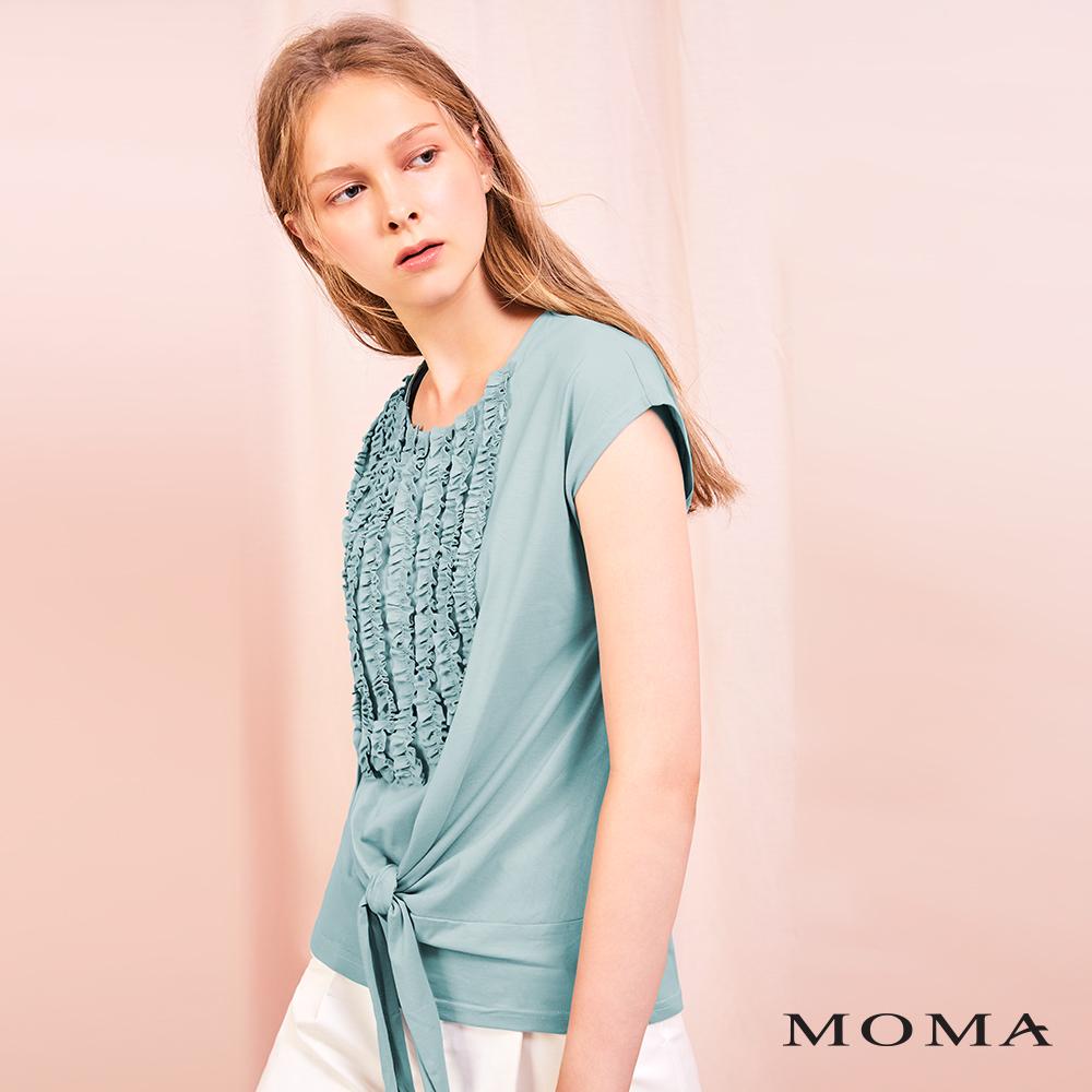 MOMA(01M098)造型裝飾綁結上衣