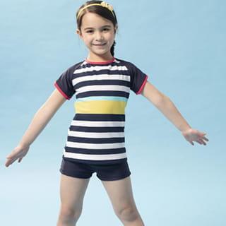 【SAIN SOU】女童兩截式泳裝附泳帽A822006