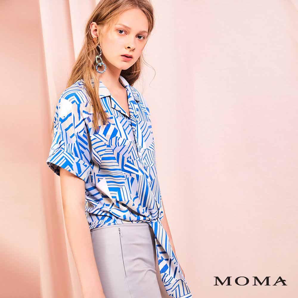 MOMA(01B013)幾何綁結襯衫