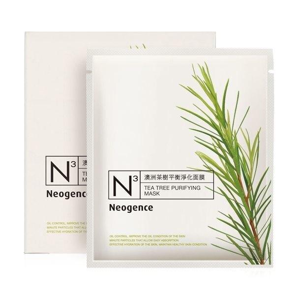 Neogence霓淨思 澳洲茶樹平衡淨化面膜 (8片/盒) 效期2022.07【淨妍美肌】