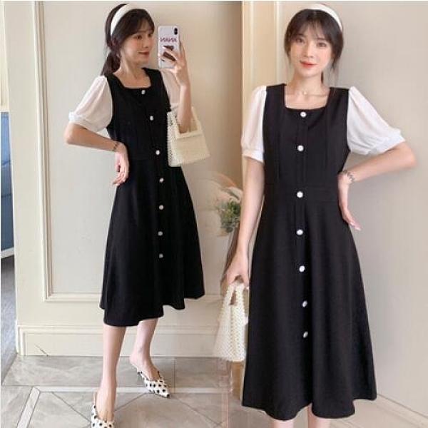 洋裝連身裙中大尺碼M-4XL大碼韓版顯瘦中長款氣質裙子4F076-3101.皇潮天下