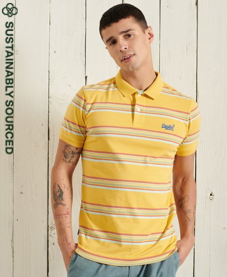 Superdry Organic Cotton Vintage Stripe Jersey Polo Shirts